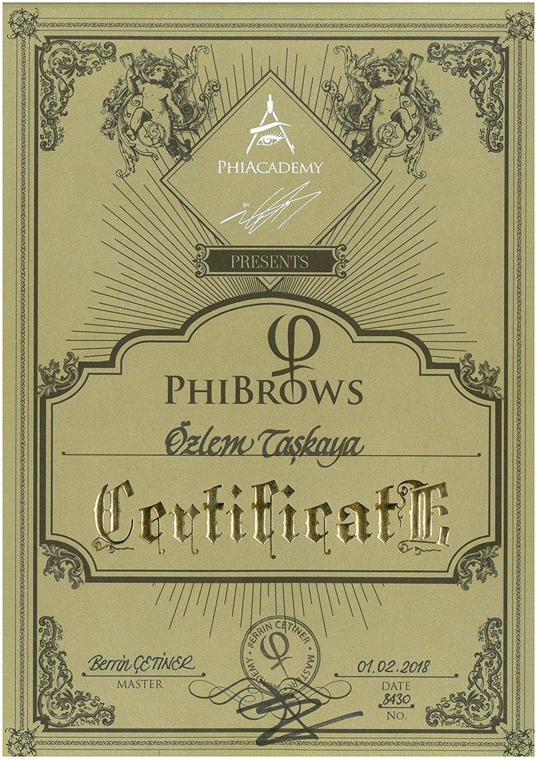 Phibrows Sertifika